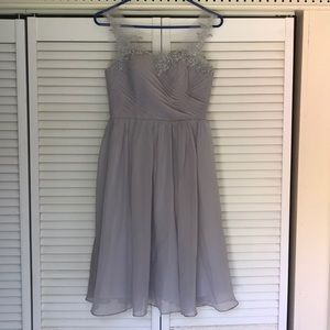 Grey, calf length dress!